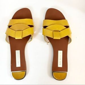 Zara leather flat sandal